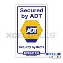 """Secured by ADT"" Alarm Window & Door Stickers"