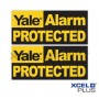 """Yale HSA3000 Window Security """"Yale Alarm Protected"""" Stickers"""